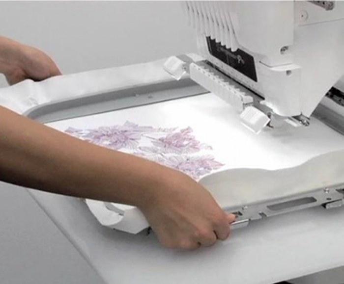 Ricamo e stampa su tessuti
